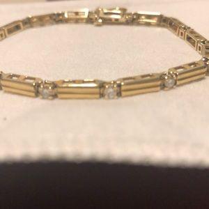 14k gold Jewelry - 14k gold and diamond bracelet